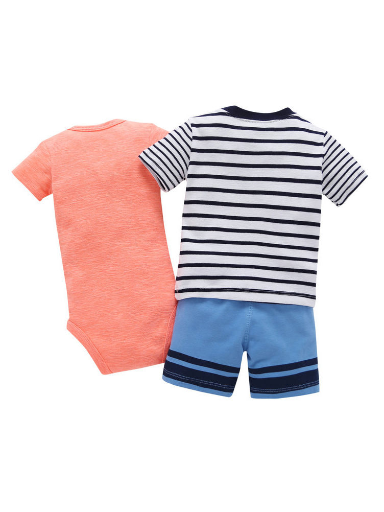 SUYEORLI Baby Boys Girls 3 Pack Shorts Cotton Soild Color with Drawstring 3-24 Months