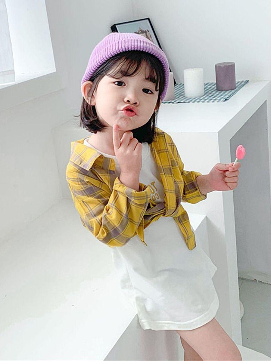Wholesale 2 Piece Fashion Little Girls White T Shirt Dr
