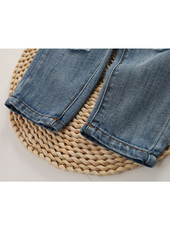 Wholesale Fashion Baby Toddler Boys Girls Ripped Jeans