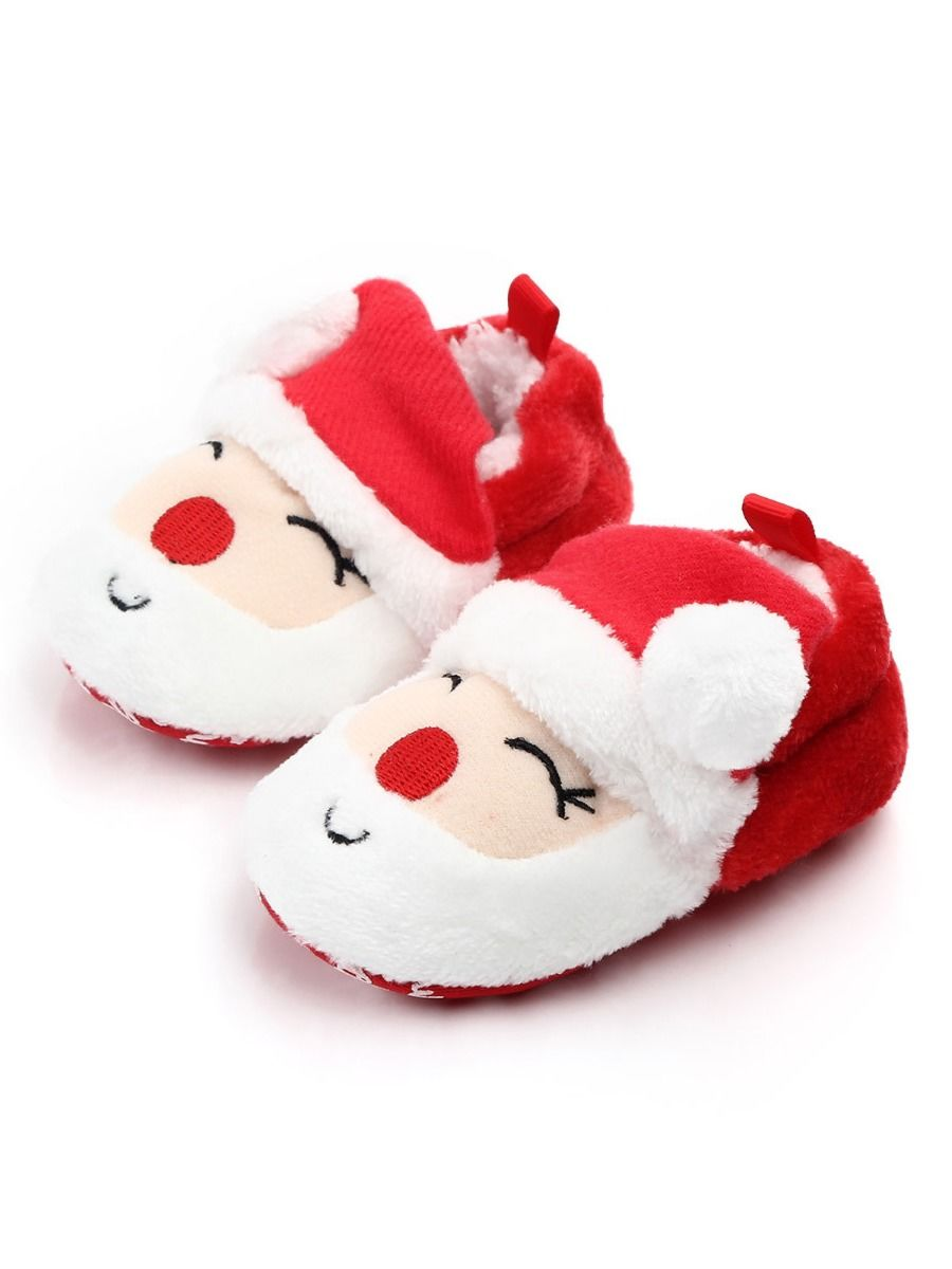 Wholesale Infant Baby Cartoon Christmas Coral Fleece Shes