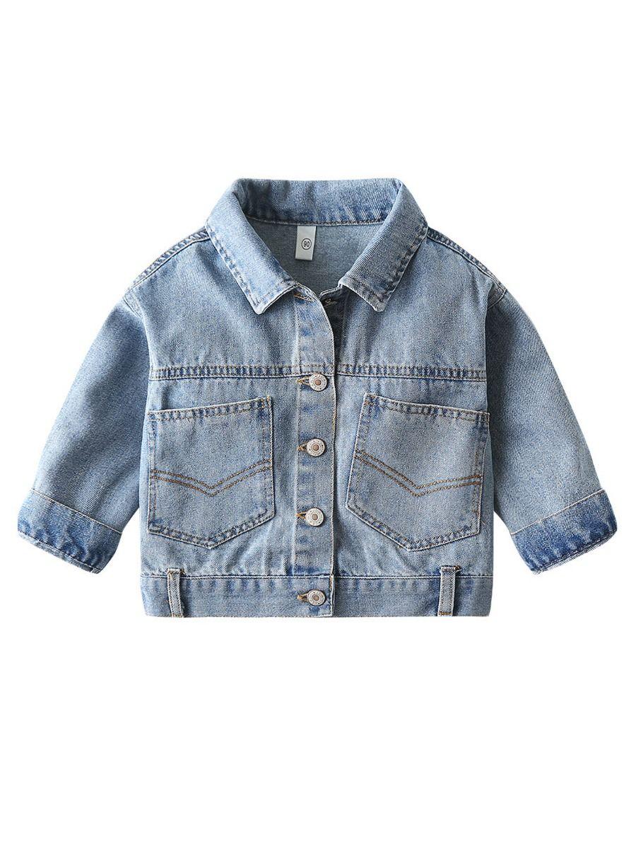shestar wholesale Kid Boy Front Pocket Denim Jacket