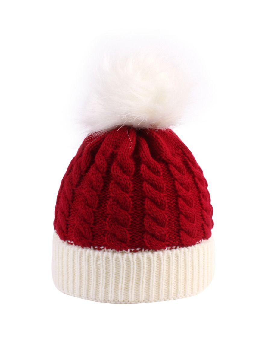 shestar wholesale Baby Xmas Pom Pom Decor Knit Beanie