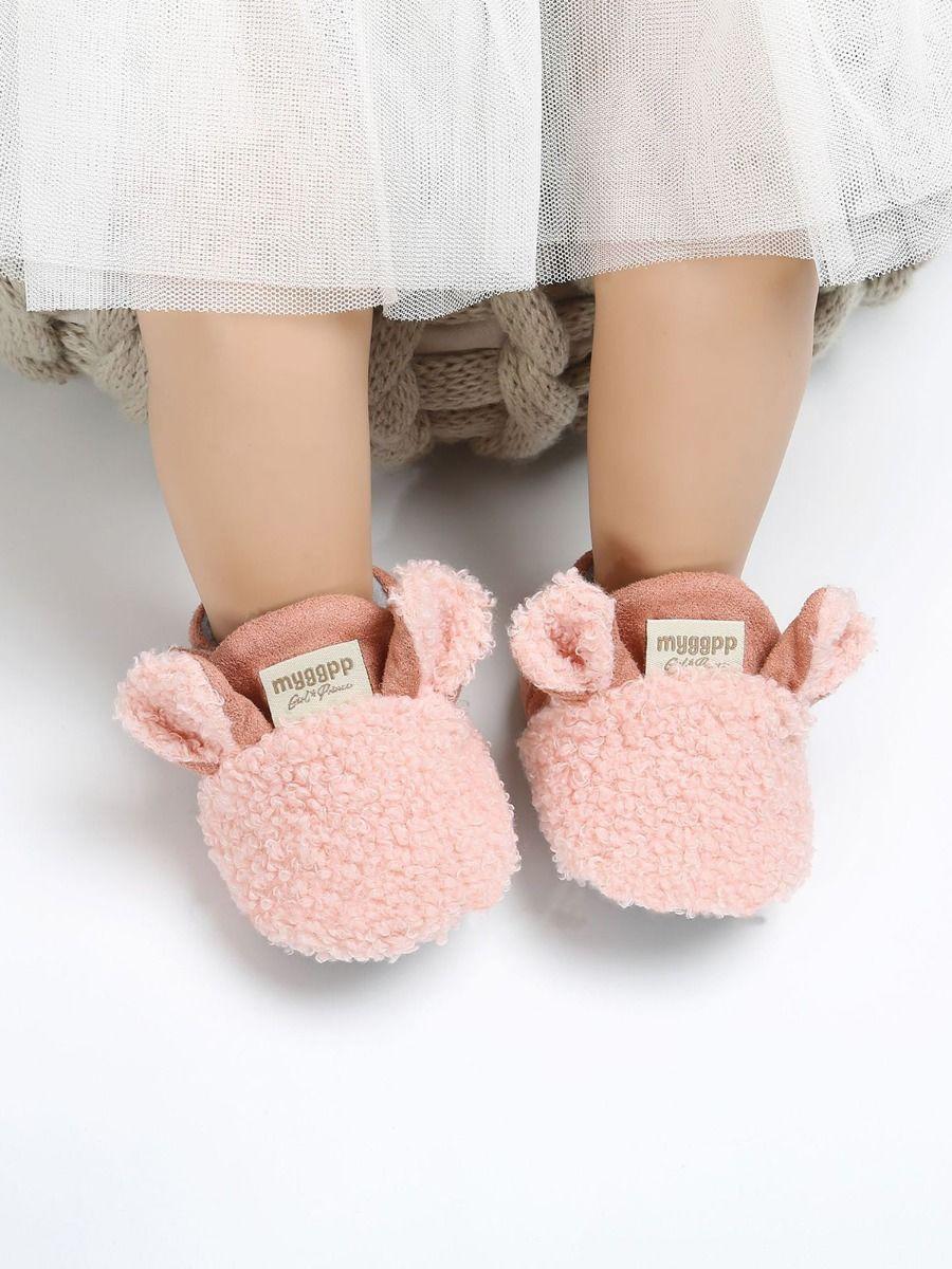 kiskissing wholesale Baby Cartoon Fleece Shoes