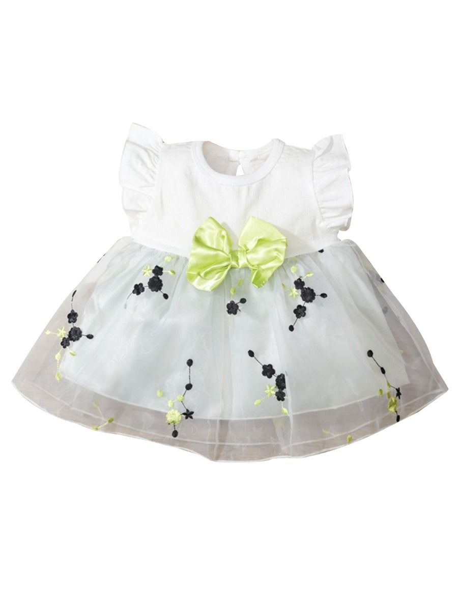iGirlDress Infant Toddler Girls Mesh Flats with Elastic Strap//Rhinestone and Bow Flower Girls Shoes Size 1-8
