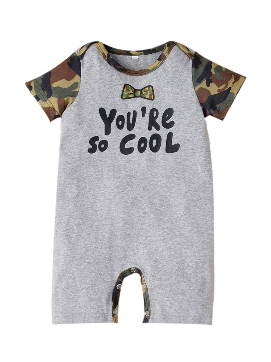 Boys Camo Rompers 03 to 912 months
