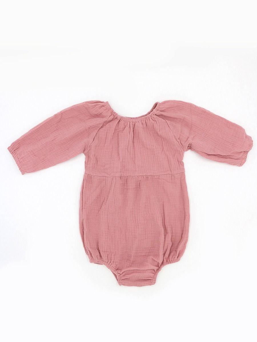 758695fcf4e8 ... Japanese Style Solid Color Long-sleeved Baby Romper ...