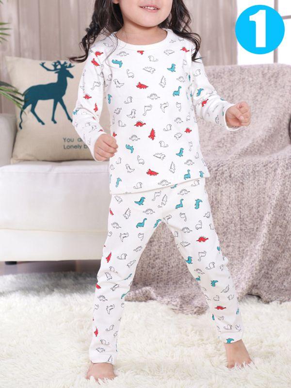 43643410ae Tap to expand · 2 piece Baby Kids Cartoon Pajamas Set Cute Cotton Unicorn  Penguin Dog Toddler Sleepwear ...