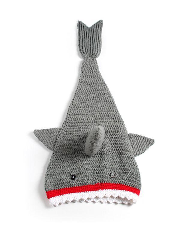 Wholesale Shark 3d Pattern Hand Knitting Baby Blanket