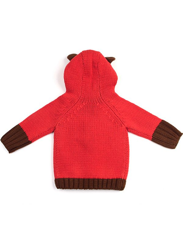 Wholesale Bear Pattern Long Sleeve Buttoned Baby Hoodie
