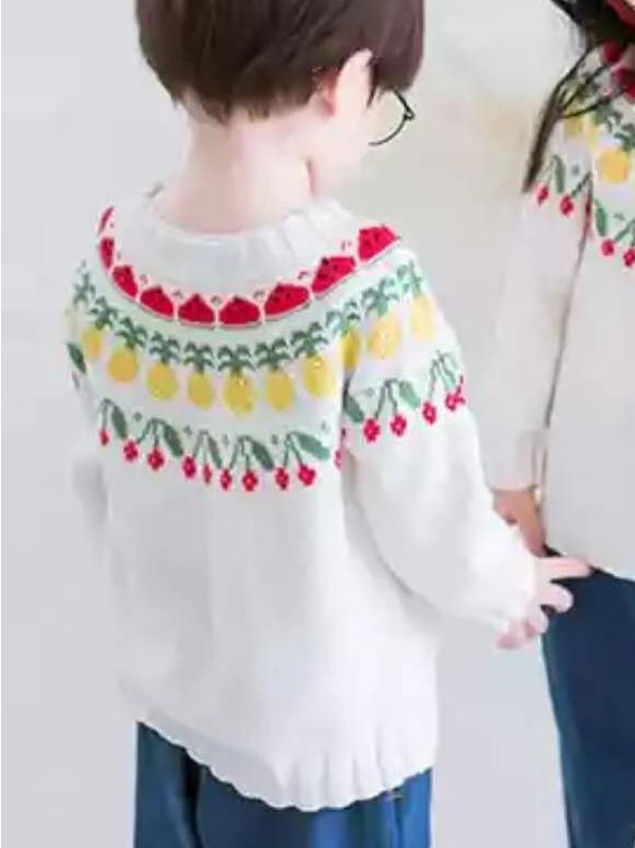 2f5a36bd953e44 ... Red Pink And Purple  buy best 214c4 163f9 5PCSPACK Casual Floral Knitted  Pullover Top Kids Girl Long Sleeve Warm Sweater ...