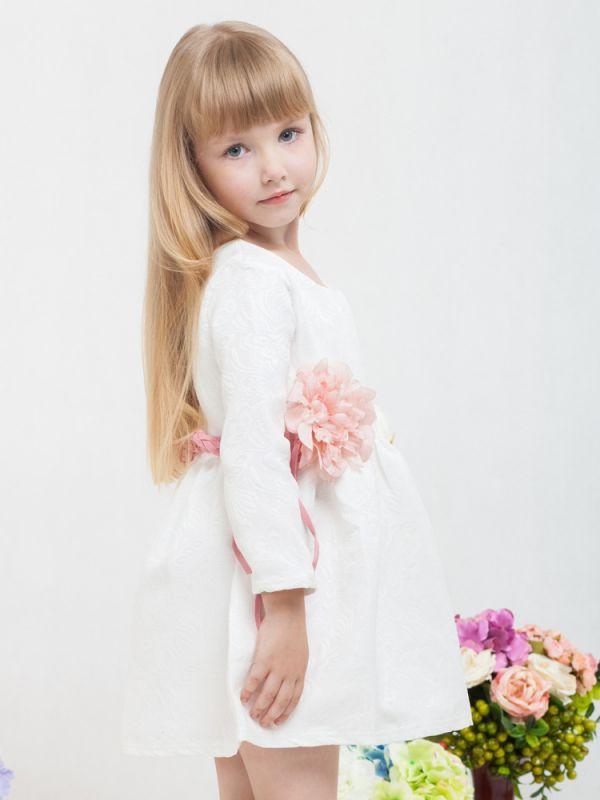 Wholesale Toddler Big Girls Floral White Christening