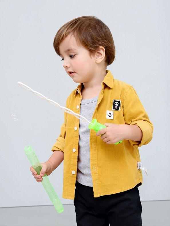Wholesale Smile Pattern Applique Toddler Little Boys