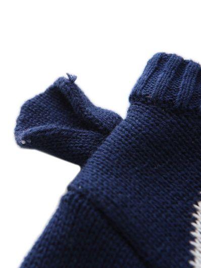 Wholesale 3D Bear Pattern Crochet Cotton Sweater Little
