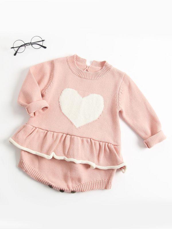 Wholesale Love Heartstar Crochet Ruffled Baby Girl