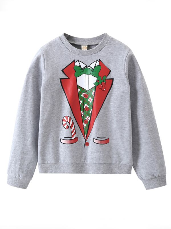 christmas suit print toddler big boys girls jumper sweatshirt children xmas clothes