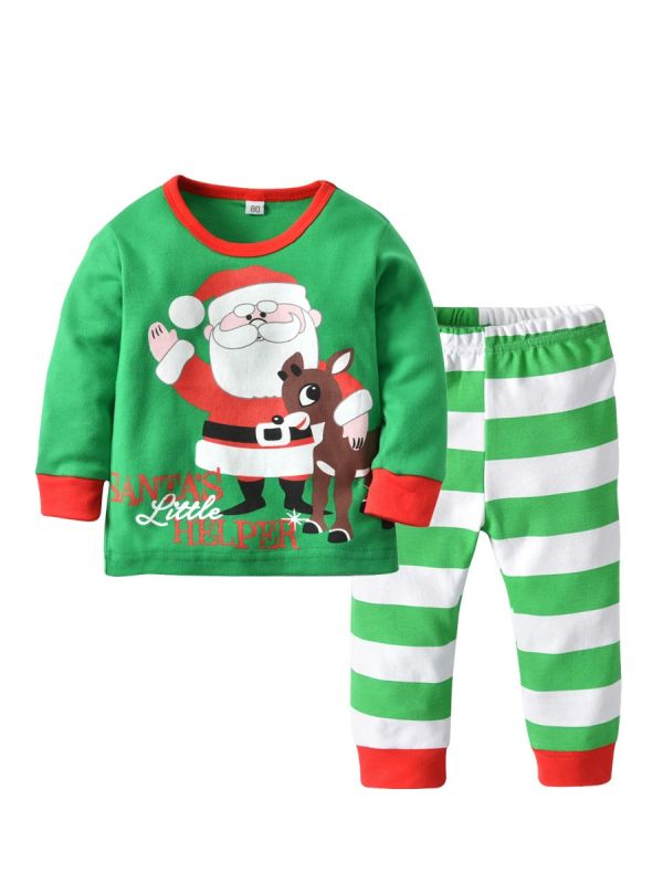 Wholesale 2PCS Baby Toddler Kids Christmas Outfits
