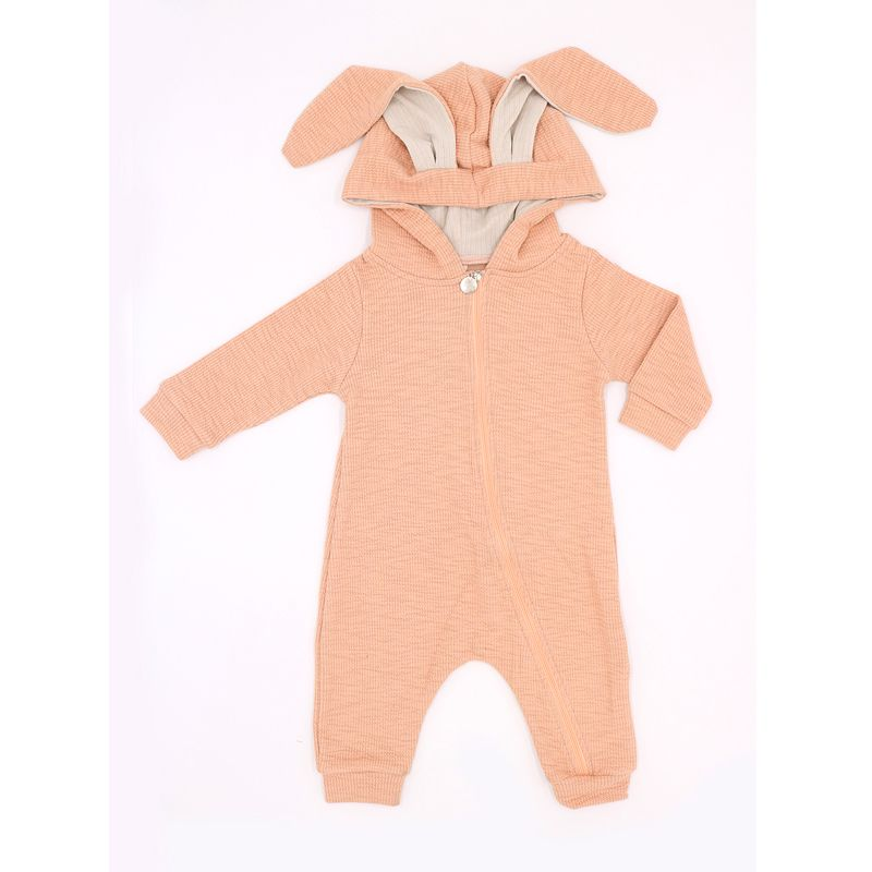 Hoodie Long Ears Bunny Style Romper Sleepsuit Jumpsuit for Babies pink wholesale baby clothes