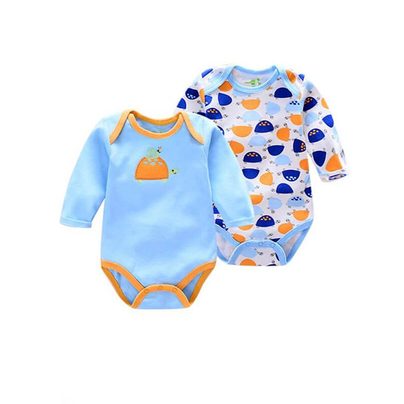 Kiskissing Buttoned Pullover Two Pieces Rompers Jumpsuits Set for Babies wholesale kids clothing