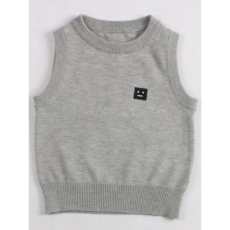 Sleeveless Jersey Pullover Sweater Vest for Babies Toddlers Boys