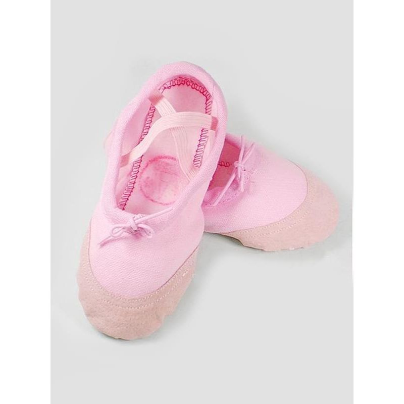 Kiskissing pink Breathable Canvas Ballet Dancing Shoes for Toddlers Girls wholesale toddler shoes