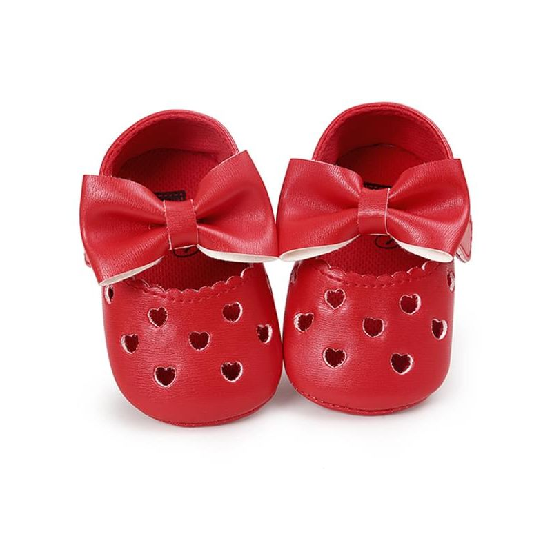 Flexible Bowknot Nonslip Soles Walking Shoes for Baby Girls
