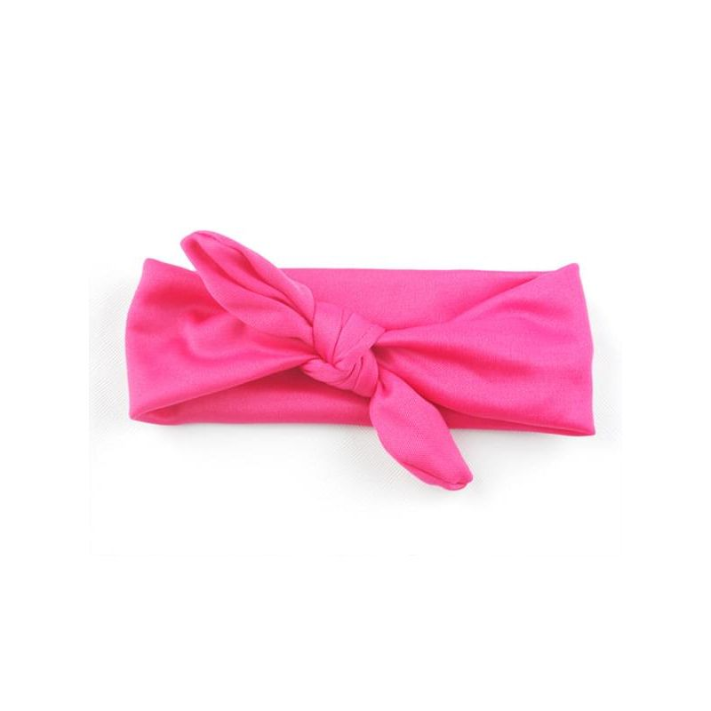 Kiskissing rose Solid Color Bowknot Elastic Headband for Baby Toddler Girls wholesale accessories