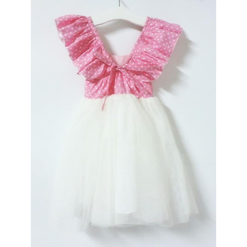 Kiskissing Paneled Cotton Tulle Princess Dress for Toddlers Girls wholesale princess dresses