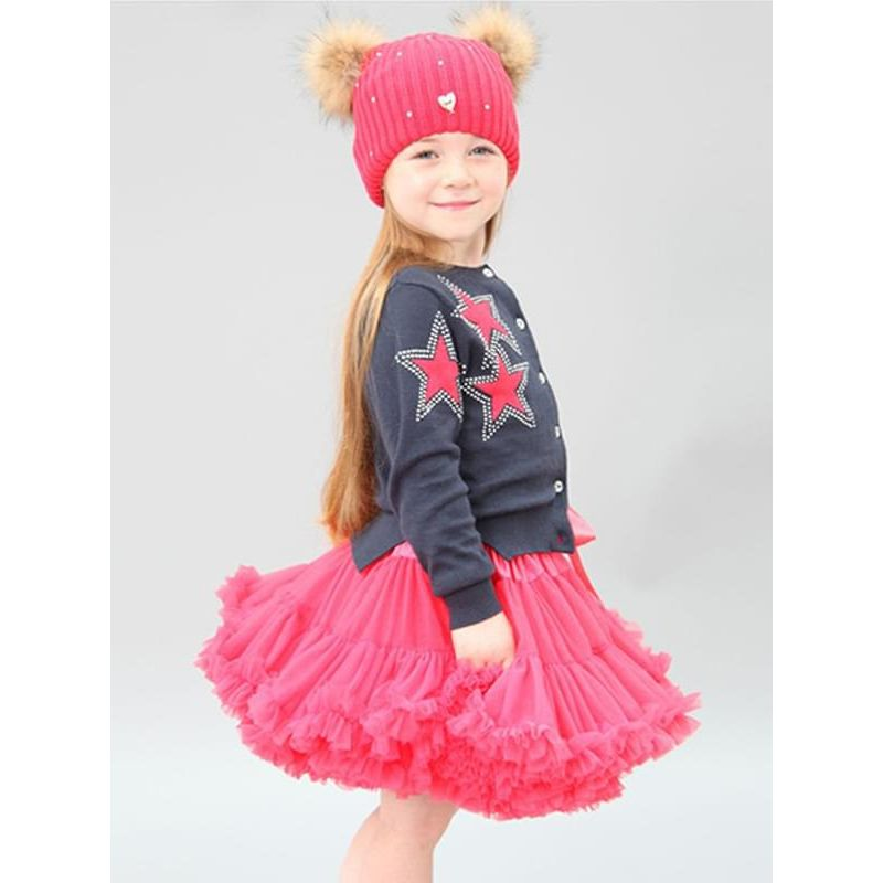 Kiskissing red Princess Dancing Tulle Tutu Pettiskirt for Baby Toddler Girls Kids the model show wholesale princess dresses