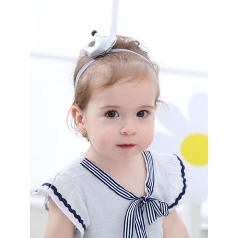 Pretty Crown Pattern Cloth Princess Headband for Baby Girls