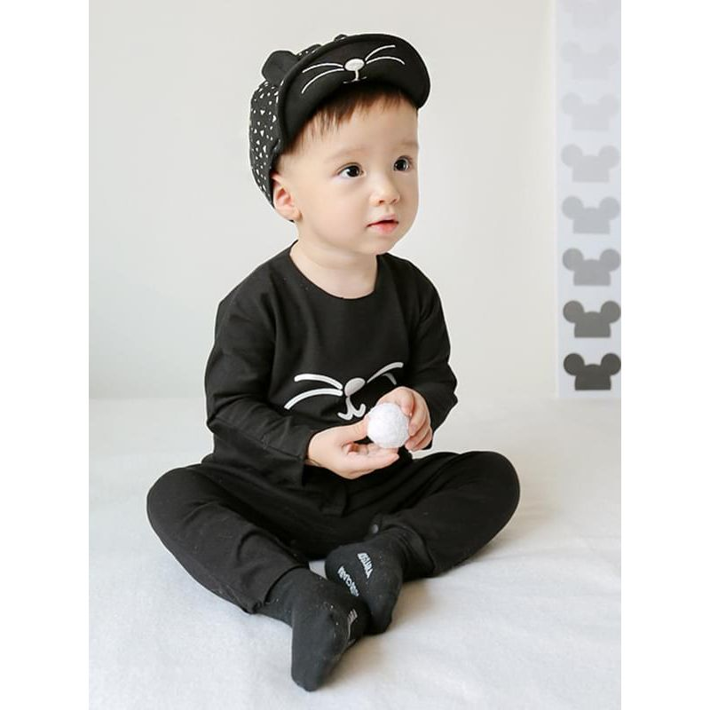 Kiskissing Cool black Animal Pattern Cotton Baseball Hat Cap for 0-24M Baby Boys the model show wholesale baby accessories