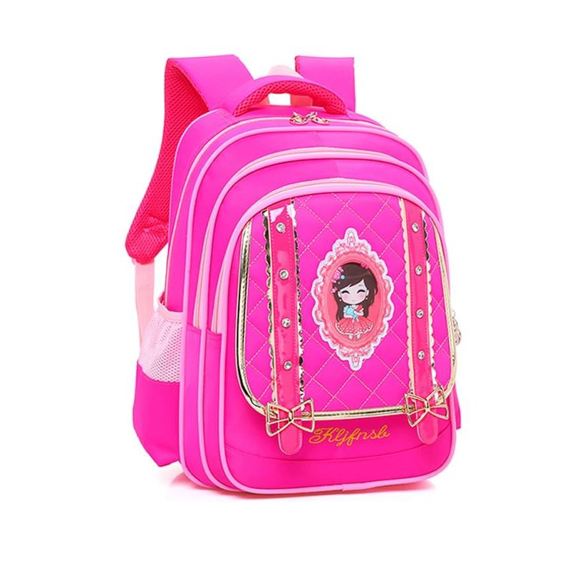 Kiskissing Cute rose Cartoon Wear-proof Schoolbag Backpack for Primary School Girls wholesale childrens accessories