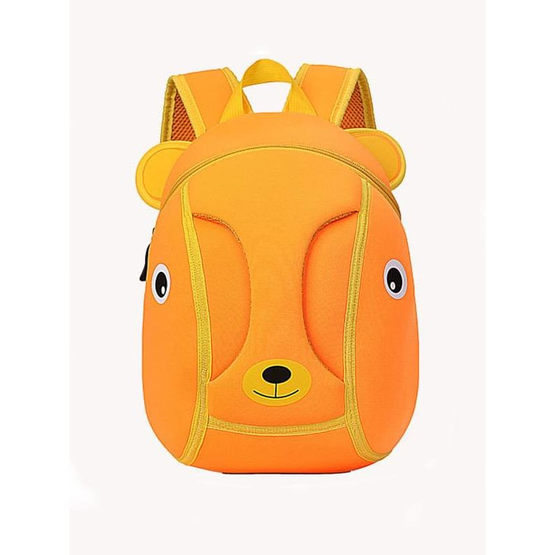 Kiskissing Cute orange Cartoon Bear Pattern Breathable Environmental Waterproof Schoolbag Backpack for Kindergarten Kids wholesale children's accessories