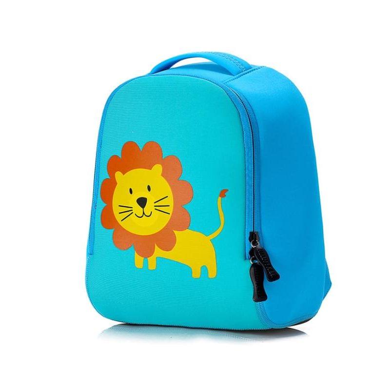 Kiskissing Cute blue Cartoon Animal Pattern lion printed Breathable Waterproof Schoolbag Backpack for Kindergarten Kids wholesale children's accessories