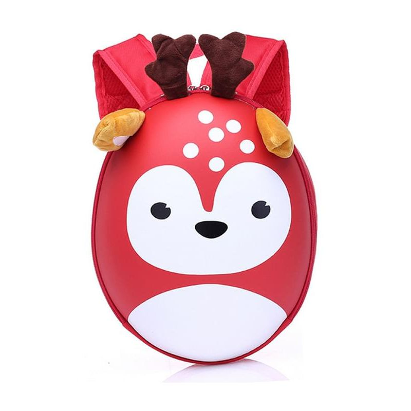 Kiskissing Cute red Deer Pattern Wear-proof Hard-shell Schoolbag Backpack for Kindergarten Kids wholesale children's accessories