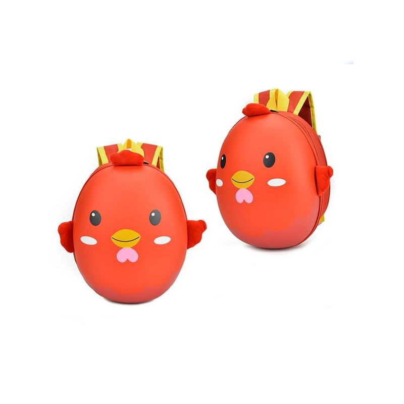 Kiskissing Cute red Cartoon Chick Pattern Waterproof Hard-shell Schoolbag Backpack for Kindergarten Kids wholesale children's accessories