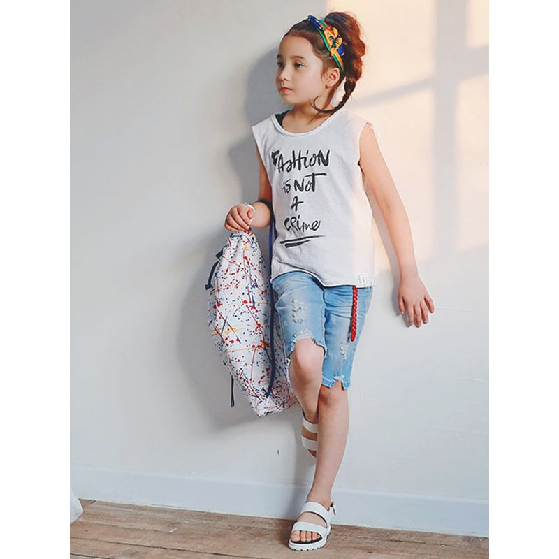Casual Daily Unisex Holes Jeans for Toddlers Boys Girls