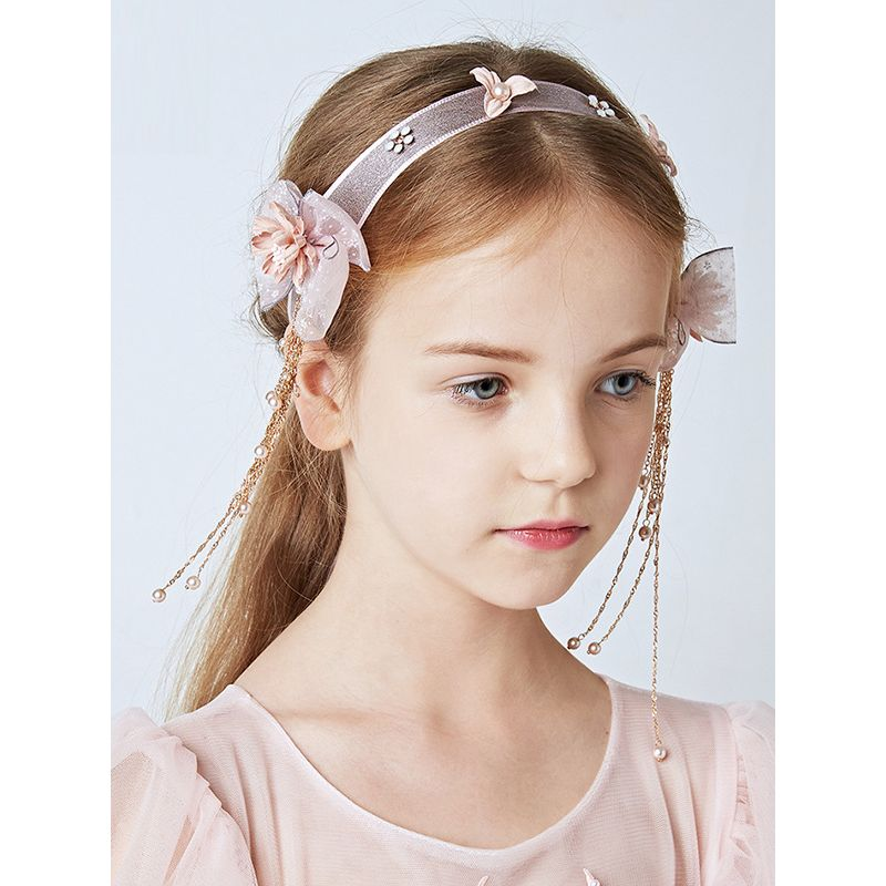 Kiskissing Flowers Headband 33x7.5cm Garland Head-wear Hair Clasp for Girls wholesale baby accessories