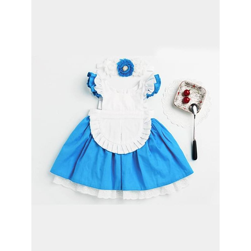 Kiskissing 2-piece Romper Headband Set Cinderella Princess Party Dress for Baby Girls the obverse side wholesale baby dresses