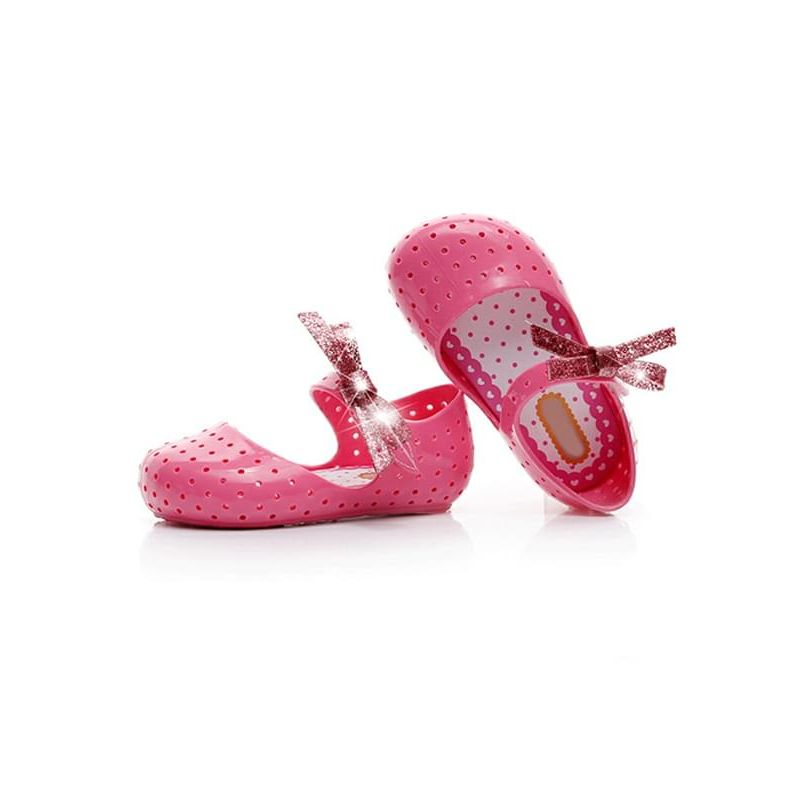 Kiskissing Pierced Bow-knot Breathable Sandals Anti-skid Velcro Shoes for Baby Toddler Girls wholesale baby accessories