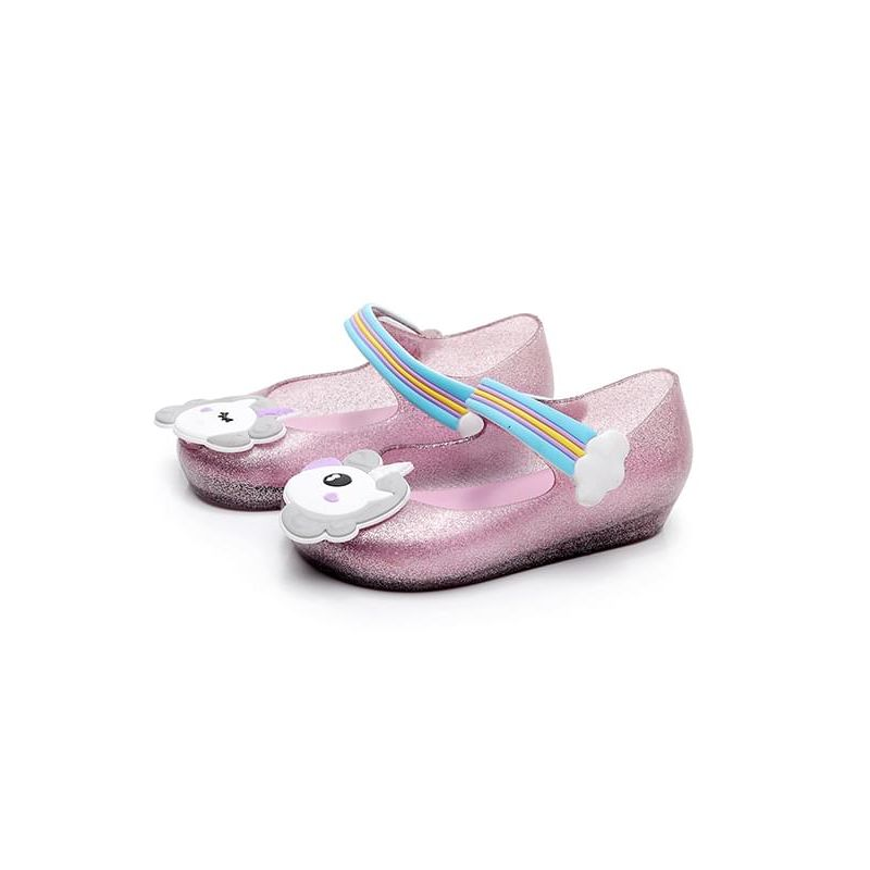 Kiskissing pink Cute Unicorn Rainbow  Pattern Sandals Anti-skid Velcro Shoes for Baby Toddler Girls wholesale baby accessories