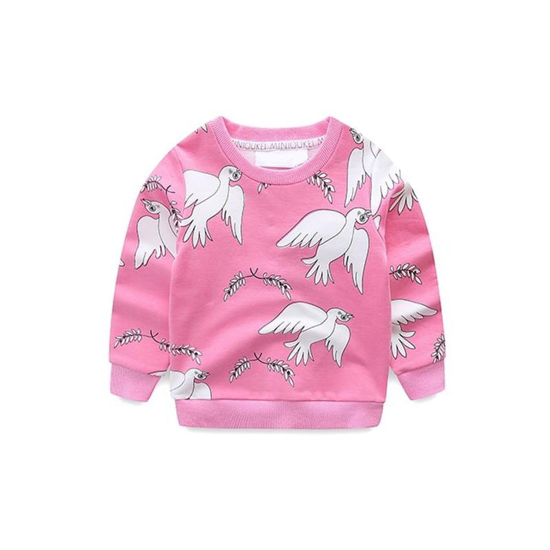 Pretty Peace Doves Printed Long-sleeve Sweatshirt Top for Toddlers Boys Girls