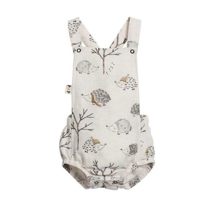 Kiskissing Cute Hedgehog Print Romper Sleeveless Strapped Cotton Backless for Baby Girls Boys wholesale baby onesies