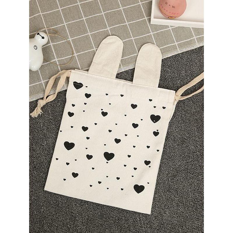Kiskissing Cute Cartoon Animal Print Canvas Wear-proof Bag Storage Bag 23x27cm wholesale baby accessories