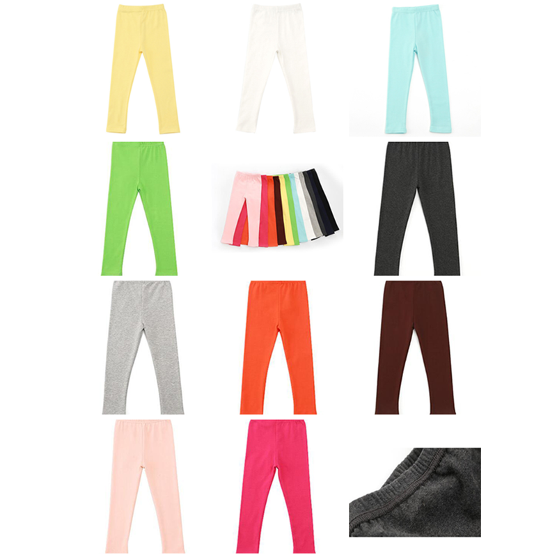 Kiskissing Solid Color Leggings Cotton Pants Trousers for Toddlers Girls wholesale kids pants multicolors available