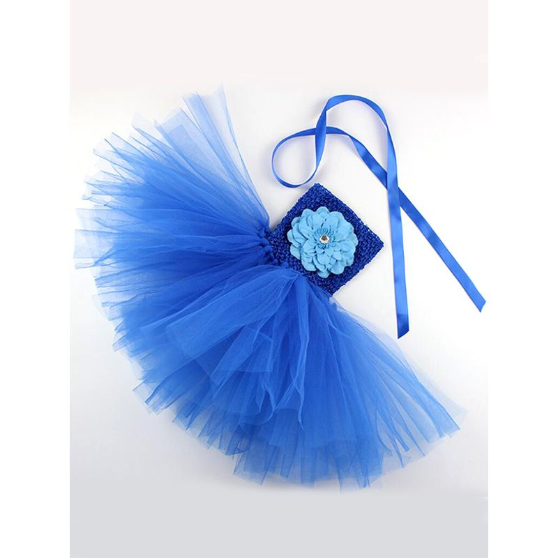 Kiskissing blue Party Tutu Dress Tulle Princess Dress Off-shoulder for Baby Girls wholesale baby dresses