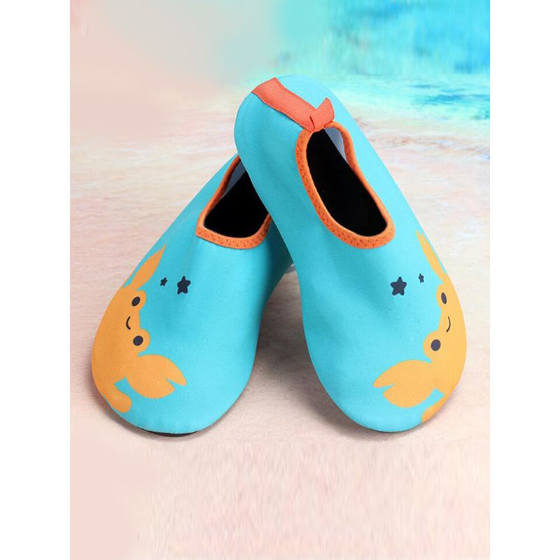 Kiskissing blue Cartoon Soft Sole Swimming Shoes Sand-beach Footwear for Babies Toddlers Boys Girls wholesale baby accessories