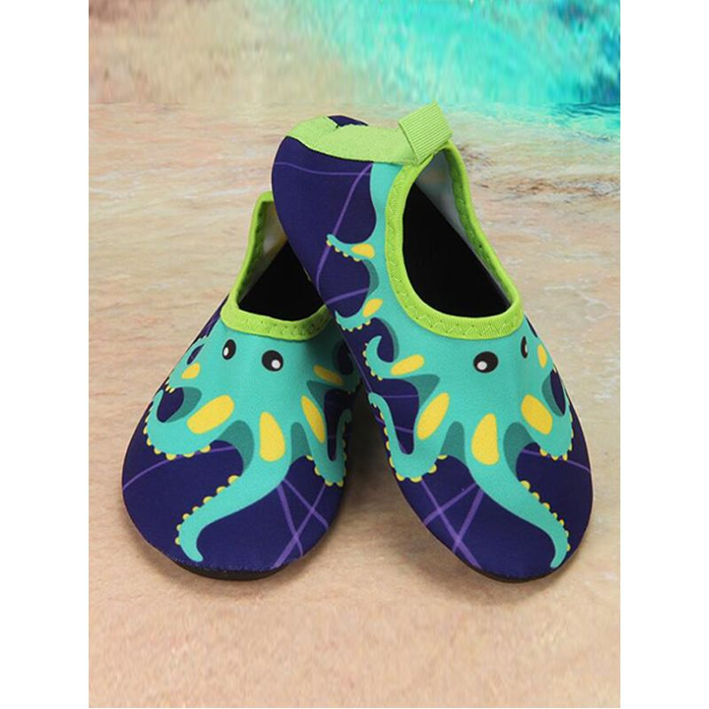 Kiskissing deep blue Cute Cartoon Soft Sole Swimming Shoes Sand-beach Footwear for Babies Toddlers Boys Girls wholesale childrens footwear