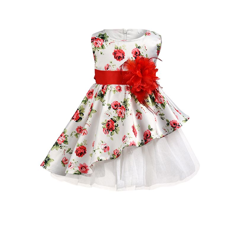 Kiskissing Flower Bowknot Formal Pageant Lace Tulle Princess Dress For Toddler Kid Girls wholesale princess dresses