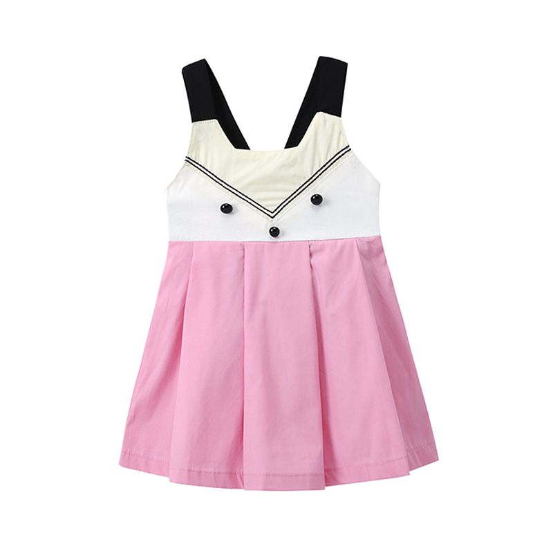 Kiskissing Cute Fox Pattern Strapped Cotton Dress for Baby Toddler Girls the obverse side wholesale girls clothing
