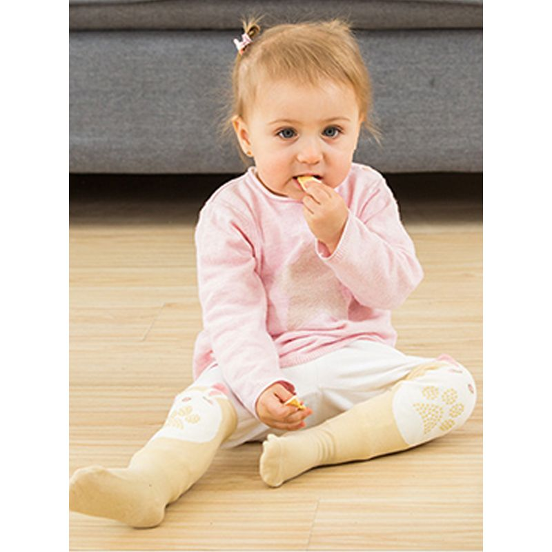Kiskissing Cute Cartoon Printed Baby Stockings Silica Gel Knee-length Combed Cotton For Babies the model show wholesale children's boutique clothing suppliers